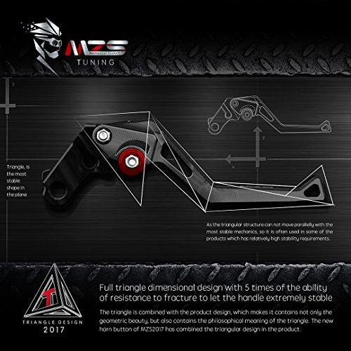 MZS Adjustment Brake Clutch Levers for Yamaha Banshee 350 YFZ350 2002-2008,Blaster 200 YFS200 2004-2006,Raptor 660 YFM660 2001-2004,Warrior 350 YFM350X 2002-2004,Wolverine 350 YFM350FX 2002-2005 Black by MZS (Image #6)'
