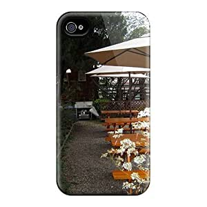 Iphone Case - Tpu Case Protective For Iphone 4/4s- Garden Restaurant