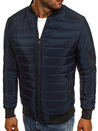 Ak84 de Capucha oscuro Mix style Jacket 3056 con Cuero de j Chaqueta Chaqueta Chaqueta Hombres para Invierno Style OZONEE J Chaqueta Azul Vaquera E4nwdzHqEB