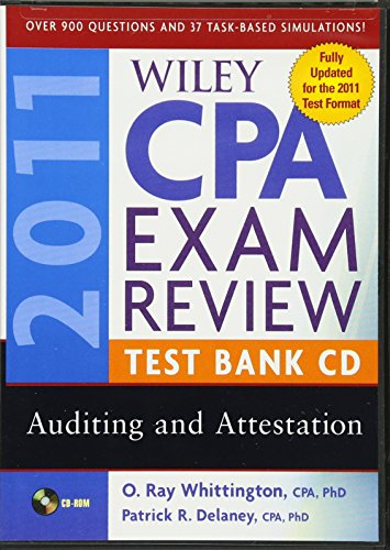 Wiley CPA Exam Review 2011 Test Bank CD , Auditing and