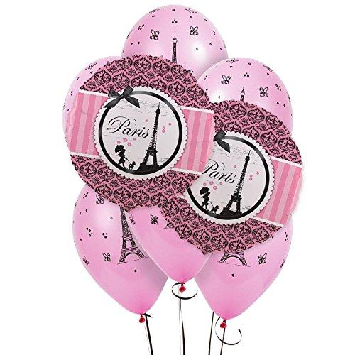 BirthdayExpress Paris 8 pc Balloon Kit]()
