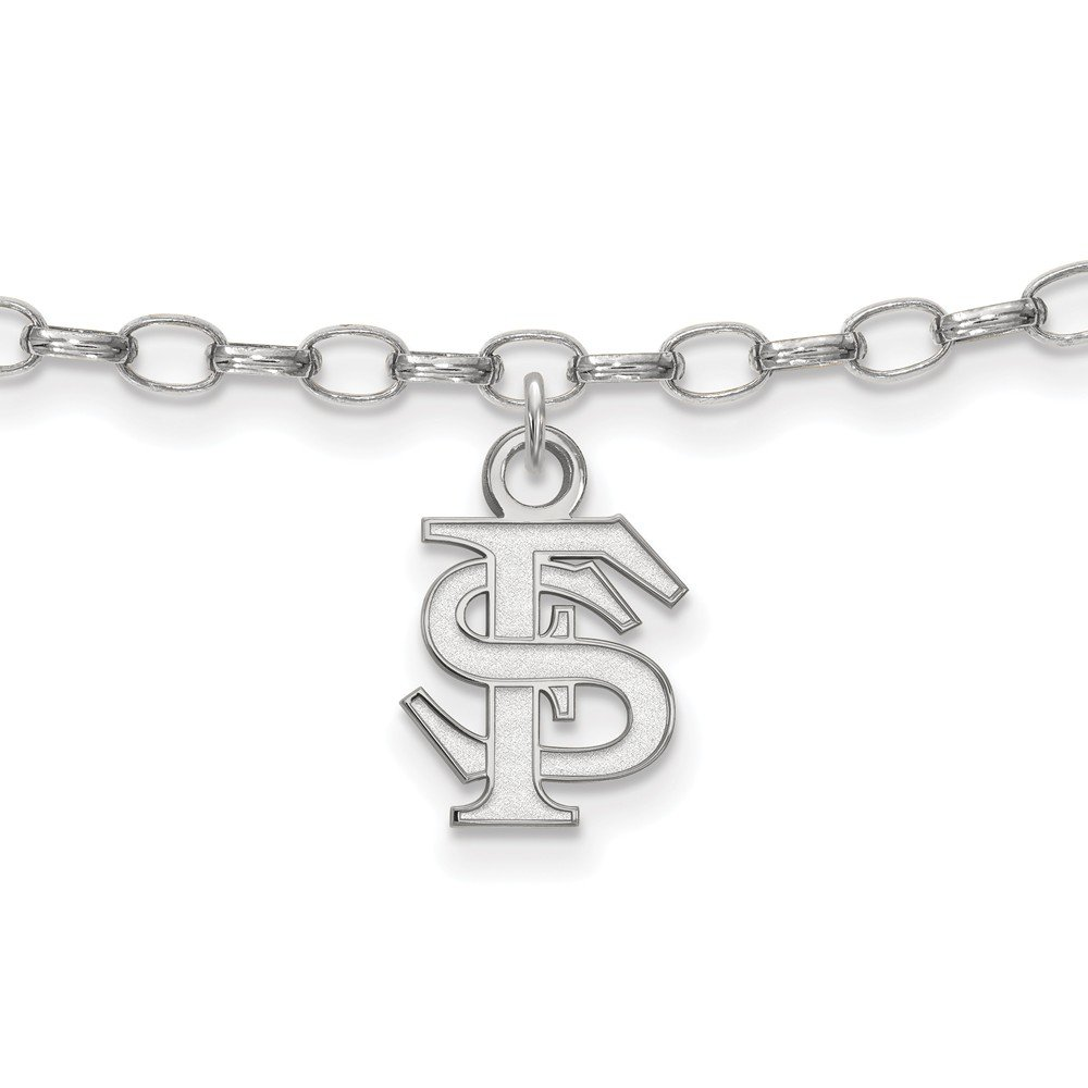 with Secure Lobster Lock Clasp 6mm Solid 925 Sterling Silver Florida State University Anklet