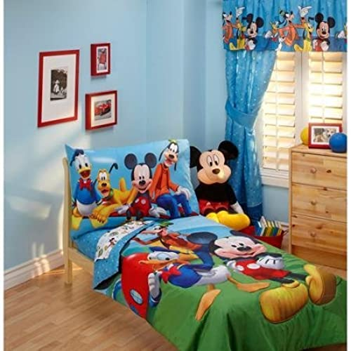 Baby Childrens Toddler 4 Piece Bedding Set Mickey Mouse By Disney Nickelodeon Marvel