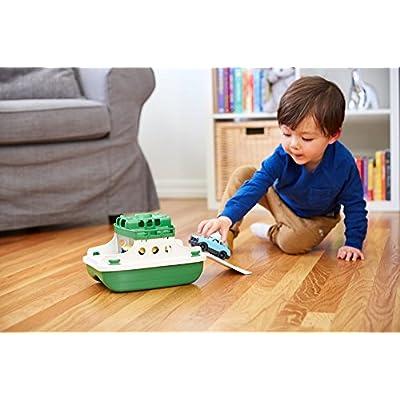 Green Toys Ferry Boat Bathtub Toy, Green/White, 10