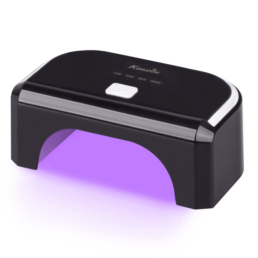 KEDSUM 12W LED Nail Lamp Nail Dryer-One-button Control-10s, 30s, 60s and 300s with Auto Shutoff-Curing Lamp for Quickly Dry LED Gel Nail Polish