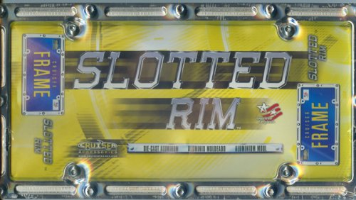 (5, Slotted Rim, Chrome, License Plate Holders, for, Metal Signs, Die-Cast, Polished, Aluminum, ,,,,SHIPPED)