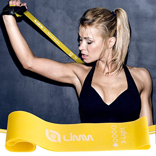 Large Product Image of Limm Resistance Bands Exercise Loops - Set of 5, 12-inch Workout Bands for Home Fitness, Stretching, Physical Therapy and More - Includes Bonus eBook, Instruction Manual, Online Videos & Carry Bag