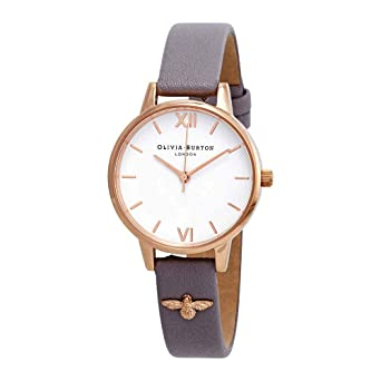 f1fa5816062f Image Unavailable. Image not available for. Color: Olivia Burton 3D Bee  Embellished Strap White Dial Ladies Watch OB16ES11