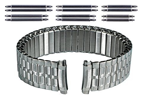 Gilden Gents Expansion 16-20mm Curved-End Stainless Steel Watch Band 540-SC