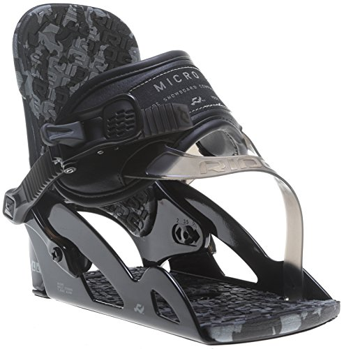 Ride Kids Snowboard Boots (Ride Micro Snowboard Binding Youth Black XS)