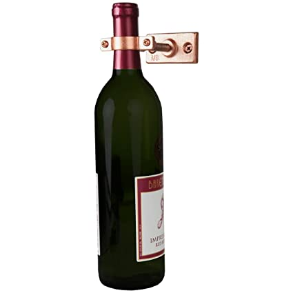 Amazon Com Lily S Home Bar Wall Mount Single Wine Bottle Display