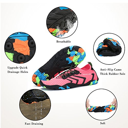 Mens for Quick Pink Dry Yoga Water Beach Pool Barefoot Walking Sports Aqua Shoes Swim Womens Diving Surf CrwqaYxtr