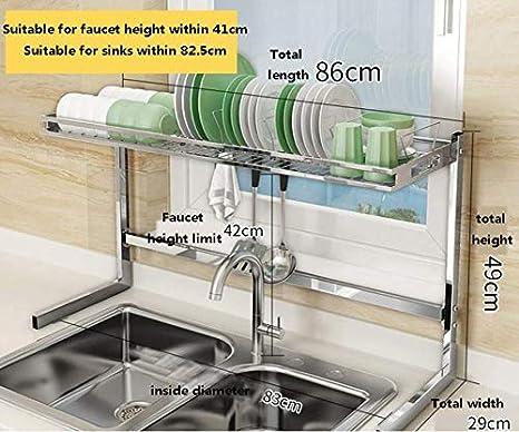 MSLYDYG Estante para secar Platos de Cocina sobre Fregadero ...