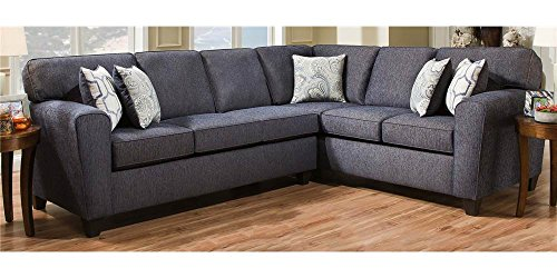 2-Pc Sectional Sofa Set in Uptown Denim (Sectional Sofa Denim)