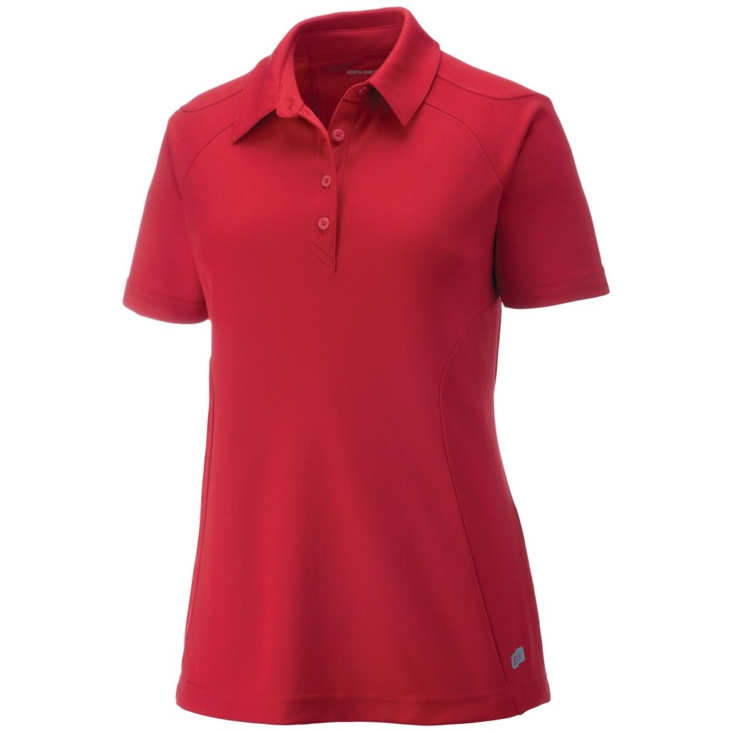 Ash City Womens Dolomite Performance Polo (X-Large, Olympic Red) by Ash City Apparel