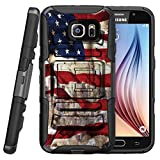 MINITURTLE Case Compatible w/ Samsung Galaxy S7 Case| Galaxy S7 Clip case[Clip Armor] 2 Layer Hard Case Exterior Shock Resistant Corners + Stand + Belt Clip American Flag NY