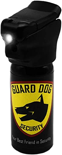 Guard Dog Security Self Defense Pepper Spray – Built-in LED Light Safety Flip Top Pepper Spray 2 oz