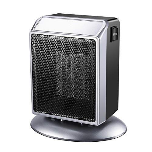 Portable Space Heater, 500W 900W Power Setting, Personal Ceramic Heater Fast Heating Electric Heater Fan Perfect for Indoor Home Bedroom Office