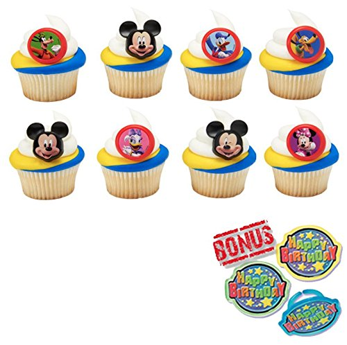 Mickey & the Roadster Racers Fun Together Cupcake Toppers and Bonus Birthday Ring - 25 piece