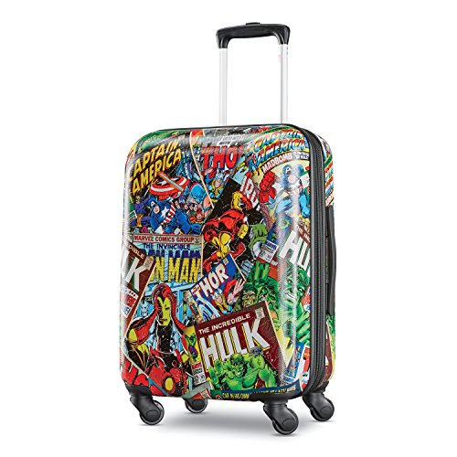 American Tourister Kids' Marvel Comics Hardside Spinner 21, Green/Red/Black