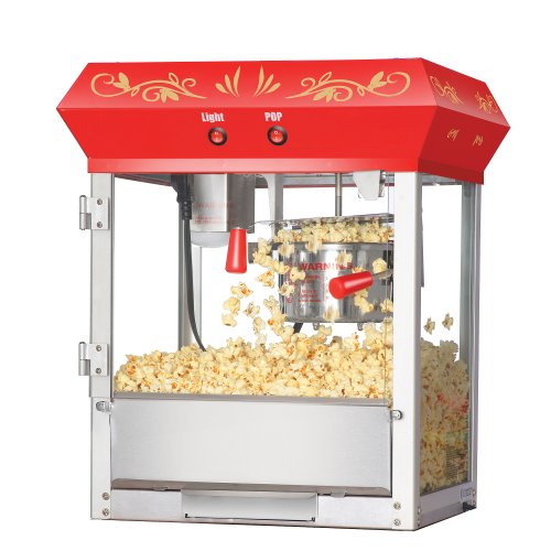 Great Northern Popcorn Red 6 oz. Ounce Foundation Old-Fashioned Movie Theater Style Popcorn Popper by Great Northern Popcorn Company