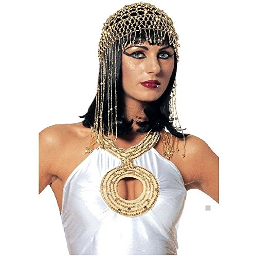 French Maid Choker And Hair Bow Set (Egyptian Beaded Gold Headpiece Costume Accessory Adult Women Cleopatra Halloween)