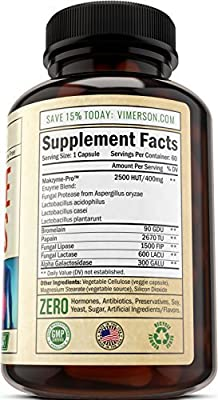 Digestive Enzymes with Probiotics - 100% All Natural Multi Enzyme Supplement for Better Digestion & Nutrient Absorption. Helps with Bloating, Gas, Discomfort, IBS & Lactose Intolerance