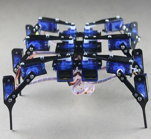 - QX Electronics 1 Set 18 DOF Six Feet/Leg Hexapod4 RC Mini Spider Black Robot Frame+18 Servos