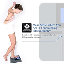 FRK Digital Body Weight Bathroom Scale, Memory Tracking, High Accuracy with Extre Large LCD Display, 400 pounds, Batteries Included