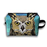 Travel Bags Handsome Owl Portable Storage Bag Clutch Wallets Cosmetic Bags Organizer Zipper Hangbag Carry Case