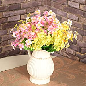 1Pc 18 Head Artificial Mini Primrose Flowers Simulation Bouquet Fake Flower Arrangements for Home Wedding Decoration (Pink) 3