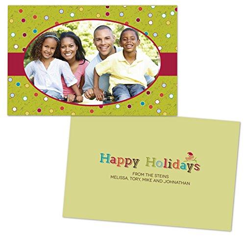 Holiday Dots Folded Photo (Dots Holiday Photo Card)