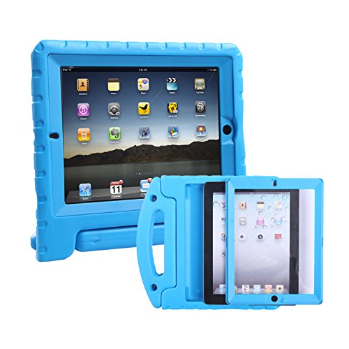 HDE iPad 2 3 4 Bumper Case for Kids Shockproof Hard Cover (Slide Protector Case Cover)