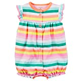 Carter's Baby Girls' Striped Cupcake Snap Up Romper