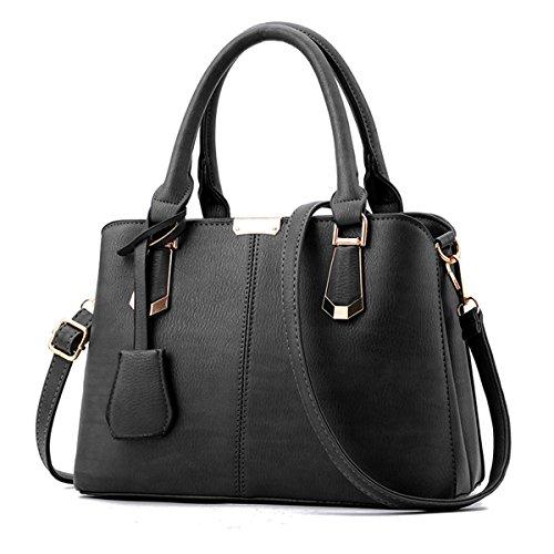 Nuova moda signore di mezza età borsa a tracolla messenger bag, grigio scuro