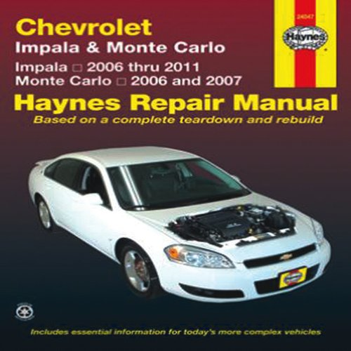 Download chevrolet impala monte carlo impala 2006 thru 2011 download chevrolet impala monte carlo impala 2006 thru 2011 monte carlo 2006 and 2007 haynes repair manual book pdf audio idpukaovw fandeluxe Gallery