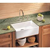 Franke MHK110-24WH Manor House Drop In/Farmhouse Fireclay Kitchen Sink White Manor House Drop