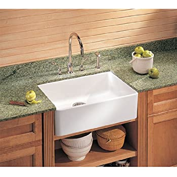Awesome Franke MHK110 24WH Manor House Drop In/Farmhouse Fireclay Kitchen Sink  White Manor House