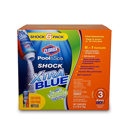 Clorox Pool&Spa 33006CLX Shock Xtra Blue, - Shock Swimming Pool