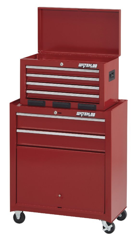 Waterloo 6-Drawer Tool Chest and Rolling Cabinet, 26'' W - Designed, Engineered and Assembled in the USA by Waterloo