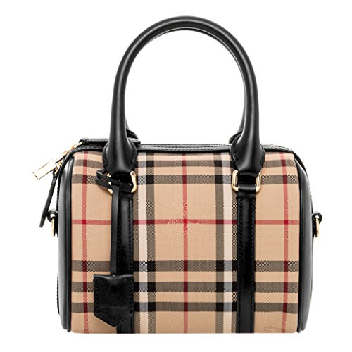 Burberry Women's Small Alchester in Horseferry Check Beige Black