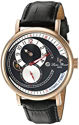 Lucien Piccard Watches Supernova Regulator Automatic Leather Band Watch
