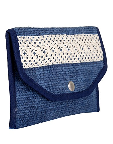 Borsa Blu Di Design Per Donna In Cotone Tinto Indiano E Durrie Di Rajrang