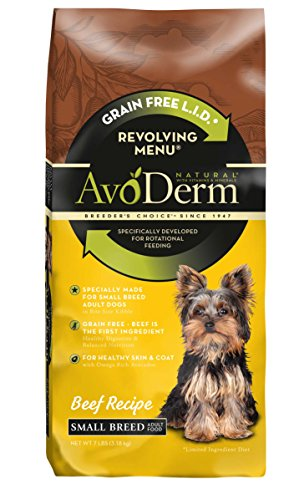 AvoDerm Natural Revolving Beef Recipe Menu for Small Breed Adult Dog, 7 lb.