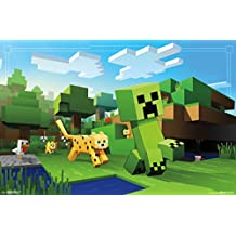"Trends International RP15038 Minecraft Ocelot Chase Wall Décor, 22.375""x 34"""