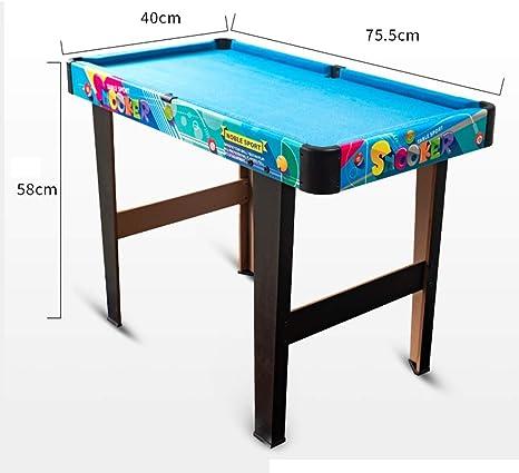 Mini mesas de billar Mesa De Billar Mesa De Billar Para Niños Juguete Mini Pequeño American Family Snooker Padre E Hijo Regalo De Cumpleaños Mesa De Billar (Color : Blue ,