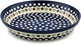 Polish Pottery Pie Dish 10-inch Mosquito