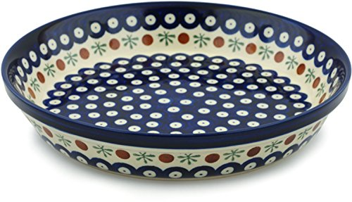Polish Pottery Pie Dish 10-inch Mosquito by Polmedia Polish Pottery