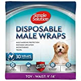 Simple Solution Disposable Dog Diapers for Male Dogs   Male Wraps with Super Absorbent Leak-Proof Fit   Toy   12 Count