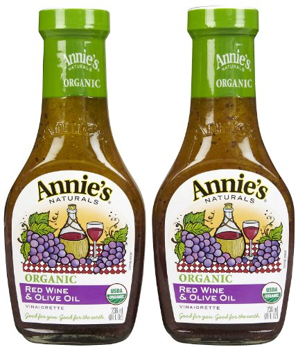 Annie's Homegrown Organic Red Wine & Olive Oil Vinaigrette, 8 oz, 2 pk